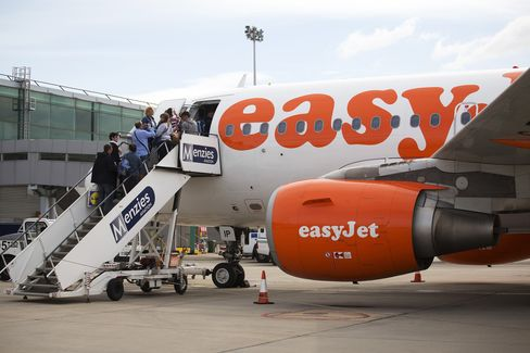 EasyJet Aircraft at Stansted Airport