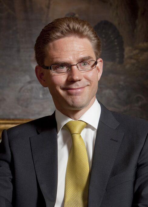 Finland's Finance Minister Jyrki Katainen.