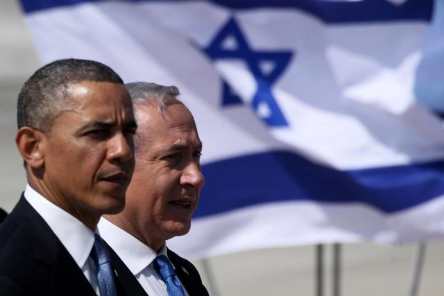 Obama and Netanyahu in Israel in 2013. Will this week's talks in Washington bring them any closer? Photographer: Marc Israel Sellem-Pool/Getty Images