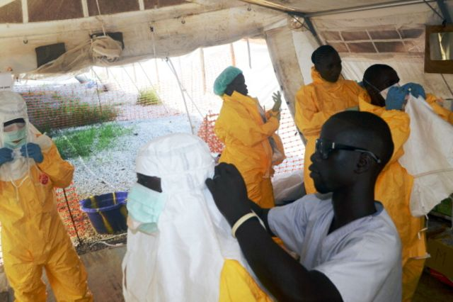 Keeping doctors and aid workers safe from Ebola is an elaborate process.