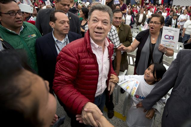 Colombian President Juan Manuel Santos is betting on peace.                            Photograph: Eitan Abramovich/AFP/Getty Images)