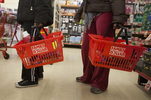 Discount retailer Family Dollar Stores Inc., which operates solely in the U.S., is opening 500 new outlets this year. Photographer: Mic
