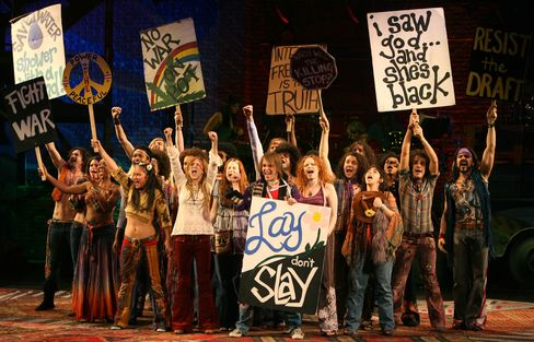 The ensemble of 'Hair'