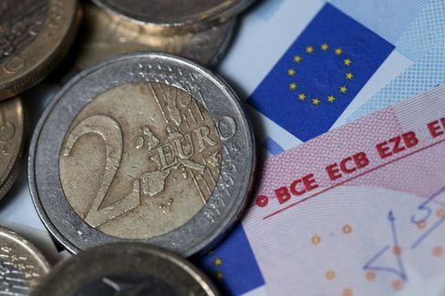 Euro, U.S. Equity Futures Decline After S&P Cuts Spain's Rating