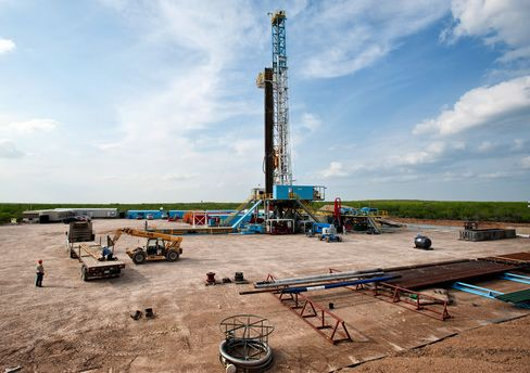 A Drilling Rig Stands in Texas