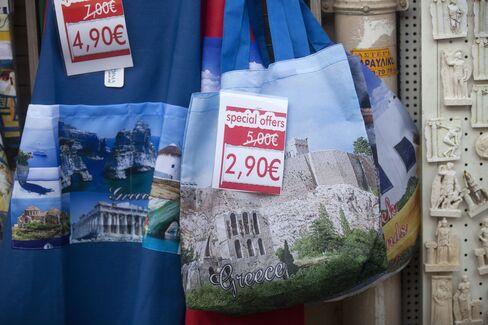 The Greek economy has shrunk almost 14 percent