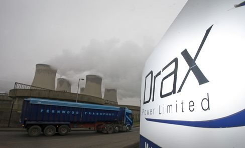 Drax Plunges After U.K. Cuts Biomass Power Support