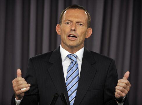Australian Liberal Party Opposition Leader Tony Abbott