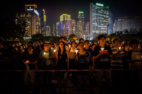 Tiananmen Protesters Gather in Hong Kong to Remember Victims