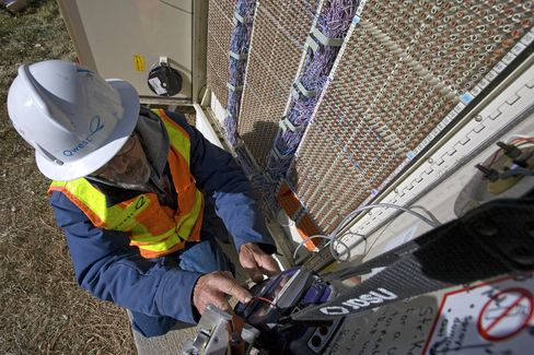 Don Cox, a facilities technician for Qwest