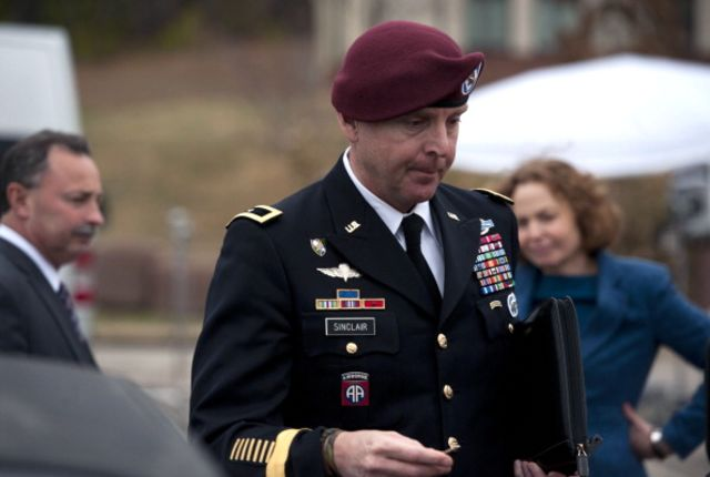 Brigadier General Jeffrey Sinclair received a reprimand and no jail time. Photographer: Davis Turner/Getty Images