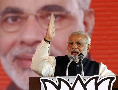 Indian Opposition Leader Narendra Modi