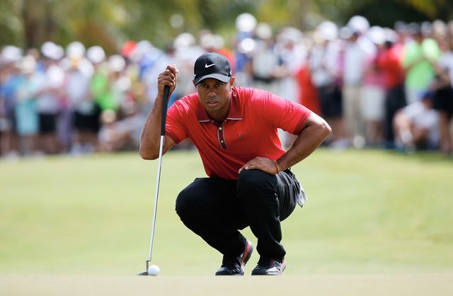 Tiger Woods -- and Derek Jeter and Kobe Bryant -- will leave big Nikes to be filled. Photographer: Chris Trotman/Getty Images