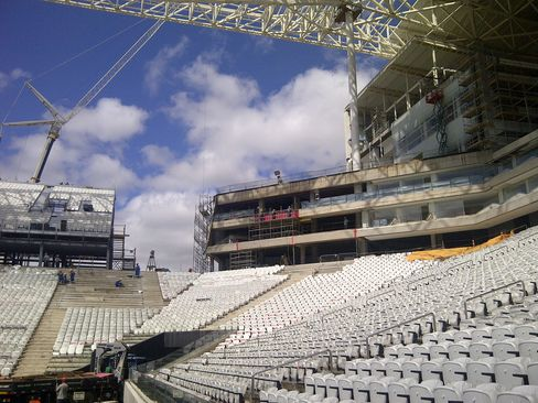 Corinthians Stadium in Sao Paolo
