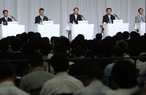 Kaieda, Noda to Contest Second Round of Japan Vote