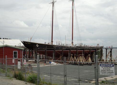 Nova Scotia Bluenose Featured on Canada Dime Becomes Landlubber