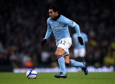 Manchester City's Tevez Wooed by Overvalued Real