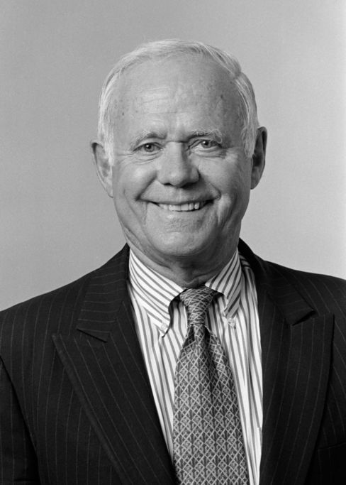 Former J&J CEO James E. Burke