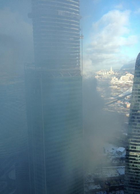 Moscow High-Rise Catches Fire in Business Hub, Workers Evacuated
