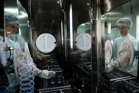 An Employee works at a Teva Pharmaceutical Industries Factory
