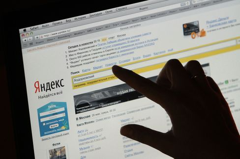 Barclays Touts Yandex After Slump on Ad Market
