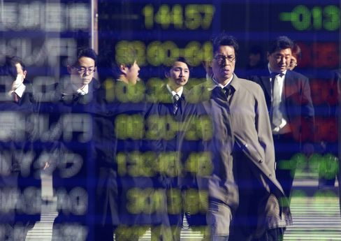 Asian Stocks Drop on Japan Data as Commodities Decline With Won