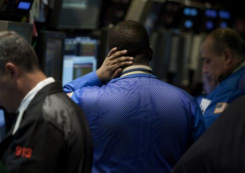 U.S. Stocks Fluctuate as Investors Watch Data Amid Europe Woes