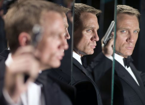 Actor Daniel Craig as James Bond