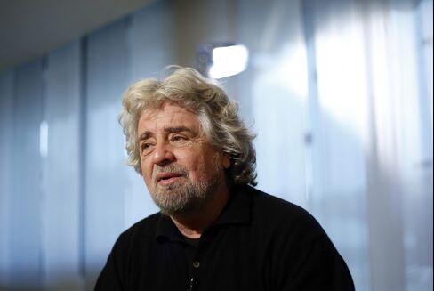 Comedian-Turned Politician Beppe Grillo