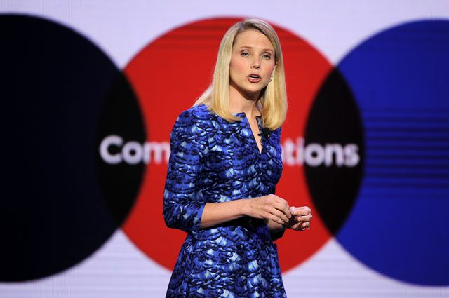 Yahoo CEO Marissa Mayer. Photographer: Robyn Beck/AFP via Getty Images