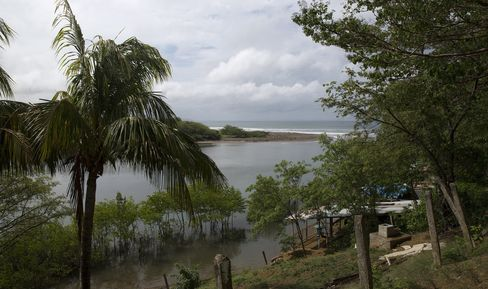 A home sits near the coast in Rivas, Nicaragua