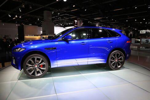 The Jaguar F-Pace SUV at the Frankfurt Motor Show.