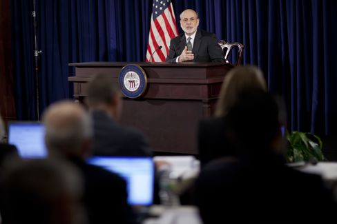 Bernanke Dissatisfied With Growth Will Press on With Pace of QE