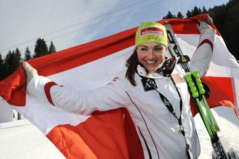 Winner Austria's Elisabeth Goergl