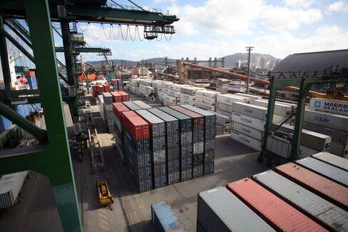 Brazil Port Stocks Quadruple on Record Shipping
