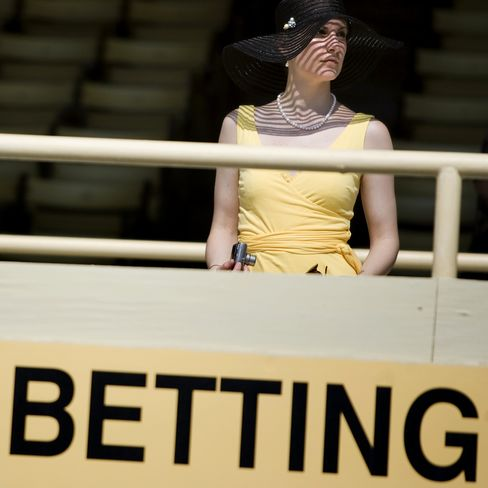 A spectator at the Preakness