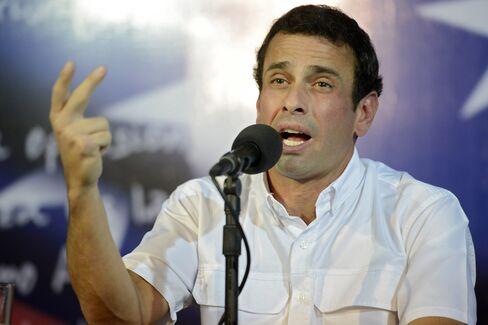 Venezuelan Opposition Leader Henrique Capriles Radonski