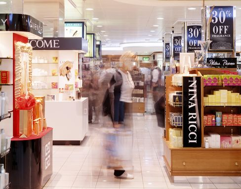 Shoppers at Heathrow Airport