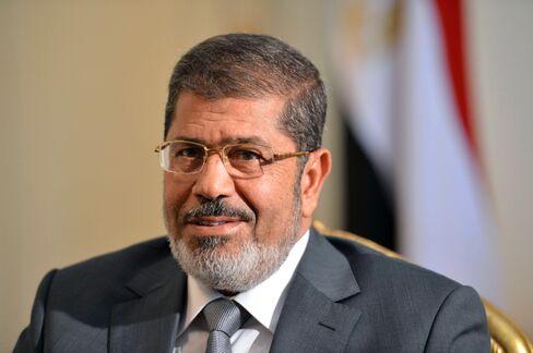 Egypt's  First Elected Civilian President Mohamed Mursi