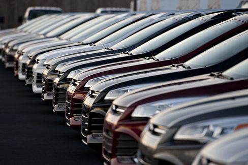 Cars Sit on Display at a Dealership in East Peoria