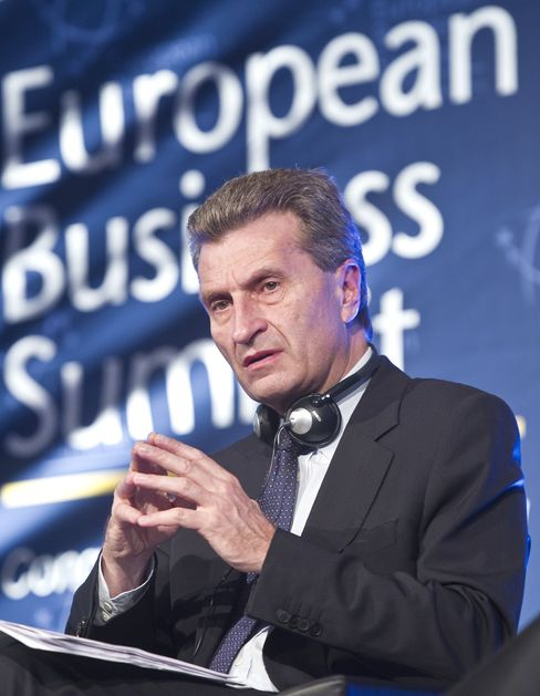 EU Energy Comissioner Guenther Oettinger