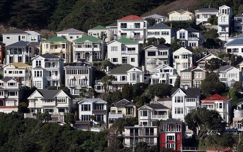 Residential houses on Mt Victoria in Wellington