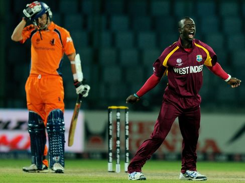 Roach Hat-Trick Fires West Indies Cricket World Cup Win