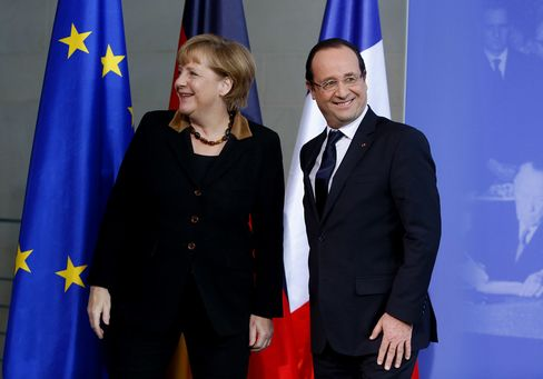Merkel Looks East for Austerity Allies in Talks With Hollande