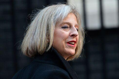 Home Secretary Theresa May a Tory