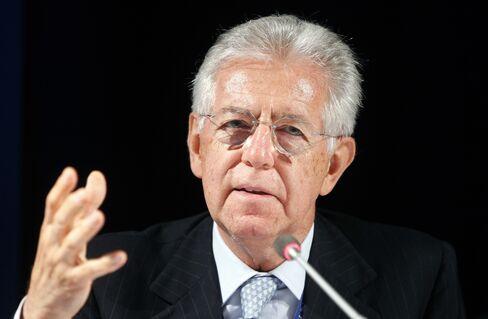 Italian Prime Minister Minister Mario Monti