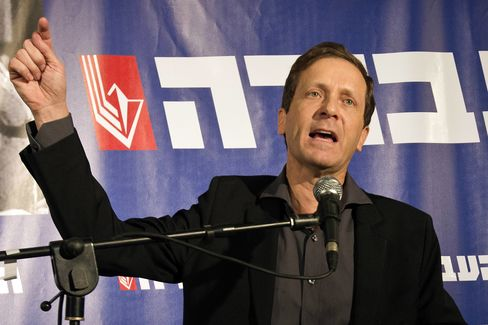 Newly Elected Chairman of Israel's Labor Party Isaac Herzog