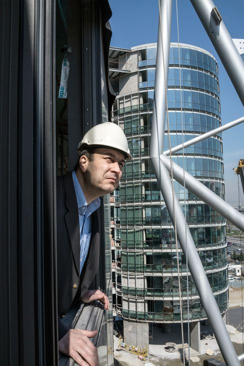 Murat Sarayli is building a convention-center complex in anticipation of Turkey's return to rapid economic growth. (Photograph: George Georgiou/Bloomberg Markets)