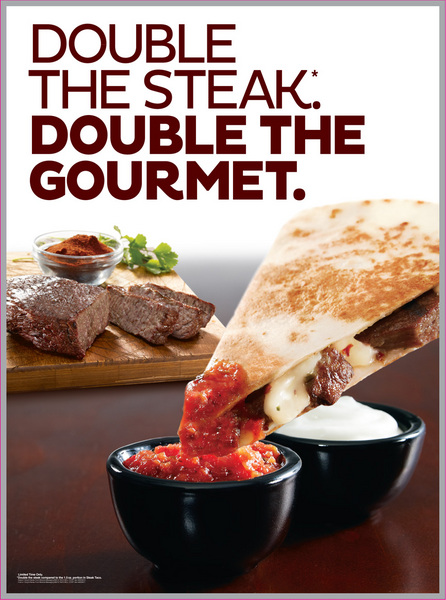 Steak Quesadillas Seen Lifting Yum's Taco Bell Rebound