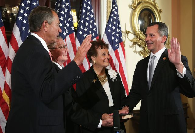Florida Republican David Jolly has been sworn in as the newest member of the House. Photographer: Alex Wong/Getty Images